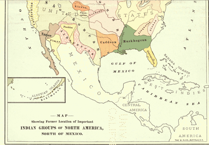 American Indians By Frederick Starr - Map of native american reservations in the us