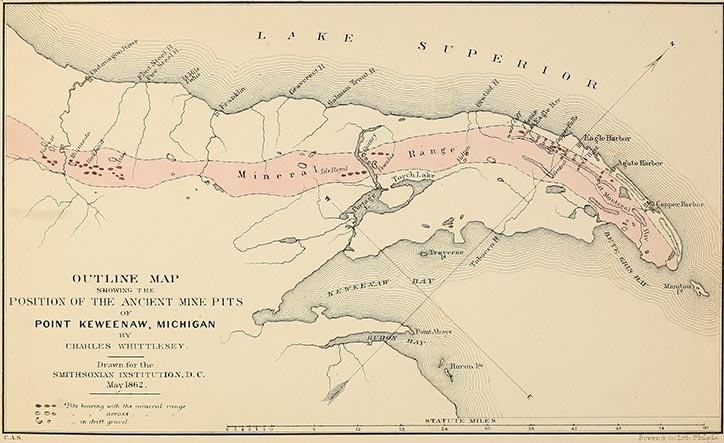 Ancient mining on the shores of lake superior map freerunsca Choice Image
