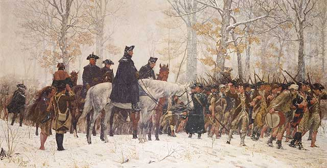 General George Washington at Valley Forge