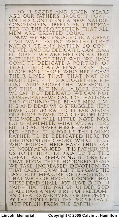 Gettysburg Address Lincoln Memorial