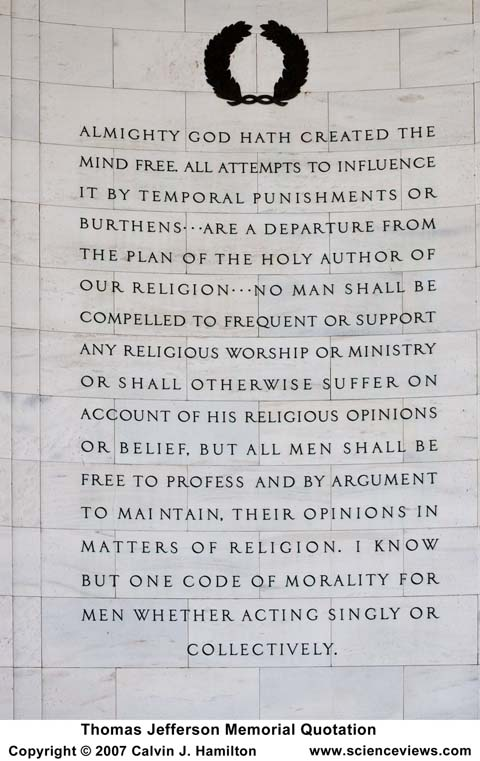 Thomas Jefferson Memorial Quotation Panel 2