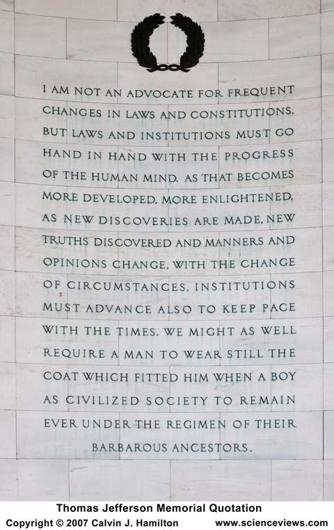 Thomas Jefferson Memorial Quotation Panel 4