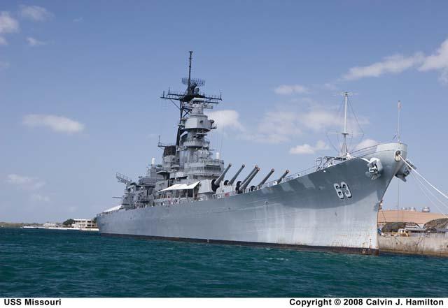 Pearl Harbor >> USS Missouri