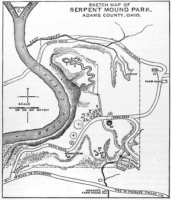 Sketch Map of Serpent Mound Park