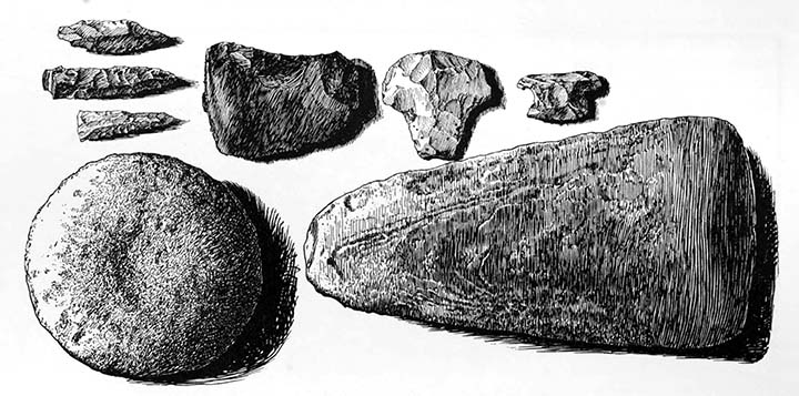 Stone implements.